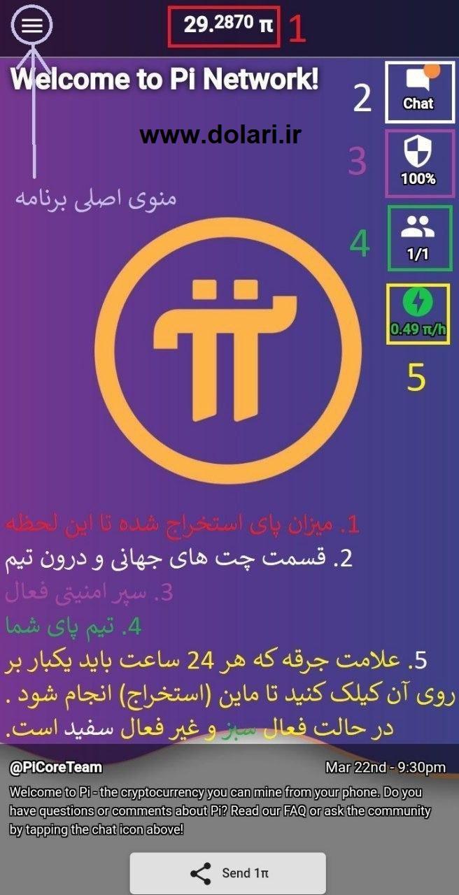 pi network برنامه